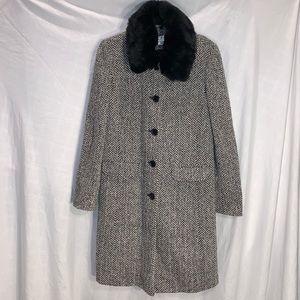 LOFT BLACK & WHITE COAT